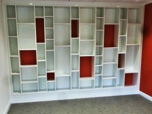 Modern fitted shelving unit